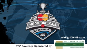 CTV London covers the Memorial Cup Sponsor