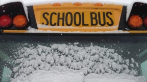 School bus - snow