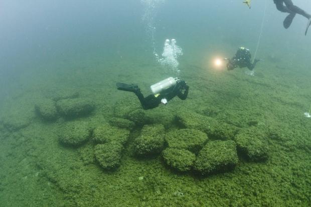 Divers in Lake Michigan