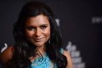 Mindy Kaling arrives at the 16th Costume Designer Guild Awards, on Saturday, Feb. 22, 2014, in Beverly Hills, Calif. (Photo by Jordan Strauss/Invision/AP)