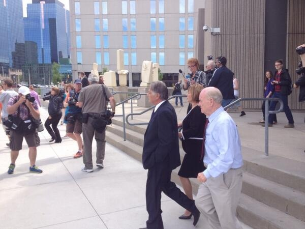 London Mayor Joe Fontana leaves superior court after being found guilty of fraud, forgery and breach of trust in London, Ont. on Friday, June 13, 2014. (Tara Overholt/ CTV London)