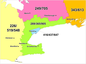 A new 548 area code is being introduced to most of southwestern Ontario, including London, Windsor, Kitchener-Waterloo, Guelph, Brantford, Sarnia, Woodstock, Stratford and Owen Sound. (Canadian Numbering Administrator)