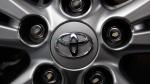 Toyota logo on a wheel at the automaker's Tokyo headquarters, on Aug. 2, 2011. (AP / Shizuo Kambayashi)