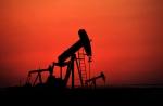 Oil pumps work at sunset on Sept. 11, 2013, in the desert oil fields of Sakhir, Bahrain. (AP / Hasan Jamali)