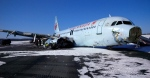 """This photo provided by the Transportation Safety Board of Canada shows a Air Canada Airbus A-320 at Halifax International Airport after making an """"abrupt"""" landing and skidding off the runway in bad weather early on March 29, 2015. (The Transportation Safety Board of Canada / AP Photo)"""