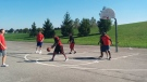 The basketball court at White Oaks Park in London, Ont. is seen in this photo provided by Kraft Project Play.
