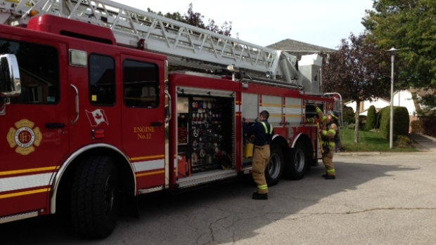 The London Fire Department kicked off Fire Prevention Week with a life-like exercise in London, Ont. on Friday, Oct. 2, 2015. (Nick Paparella / CTV London)