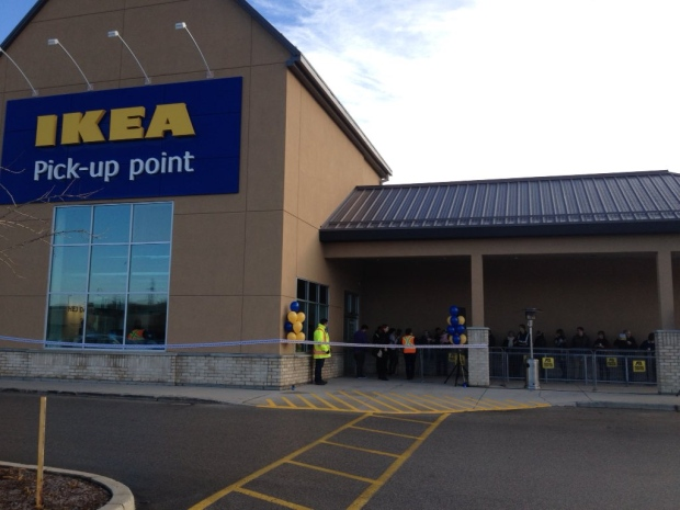 The first Ikea Pick-Up and Order Point location opens in London, Ont. on Wednesday, Dec. 2, 2015. (Sean Irvine / CTV London)
