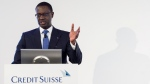 Tidjane Thiam, CEO of Swiss bank Credit Suisse, in Zurich, Switzerland, on Feb. 4, 2016. (Ennio Leanza / Keystone via AP)