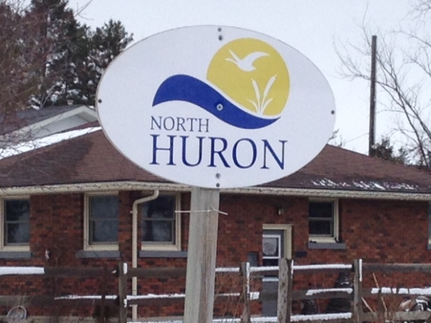 A sign for the Township of North Huron, Ont. is seen on Tuesday, Feb. 9, 2016. (Scott Miller / CTV London)