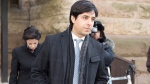 Jian Ghomeshi and his lawyer Marie Henein (left) leave court in Toronto following closing arguments in his sexual assault trial on Thursday, Feb. 11, 2016. (Frank Gunn / THE CANADIAN PRESS)