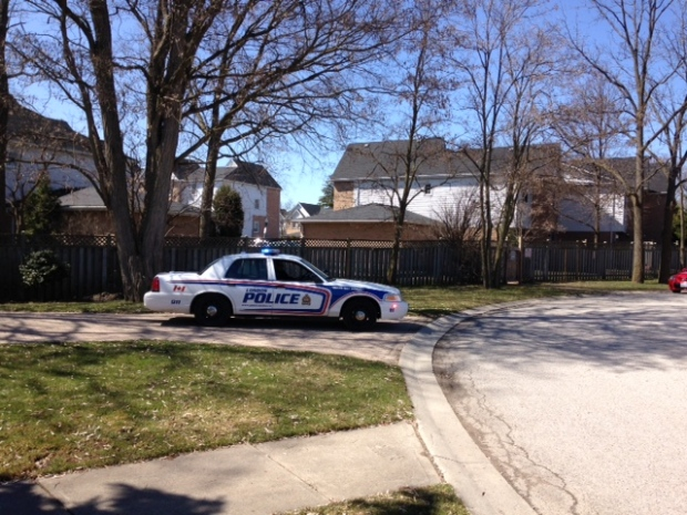 London police search for a possible armed suspect in the Masonville area on March 29, 2016. (Nick Paparella/CTV London)