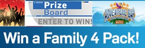 Adventure Bay Family Water Park - Prize Board