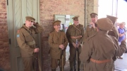 A re-enactment in St. Thomas on Saturday, June 25th, 2016 shows the day 100 years ago when 900 men left for war