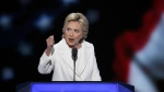 Democratic presidential nominee Hillary Clinton speaks during the final day of the Democratic National Convention in Philadelphia on Thursday, July 28, 2016. (AP / J. Scott Applewhite)