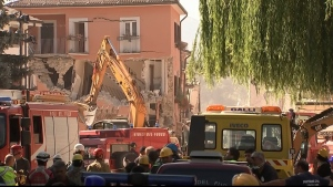 Search and rescue efforts in Italy