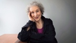 """Author Margaret Atwood sits for a portrait while promoting her new books """"Angel Catbird"""" and """"Hag-Seed"""" in Toronto on July 28, 2016. (Aaron Vincent Elkaim/The Canadian Press)"""
