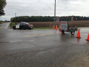 OPP are on scene of a fatal crash on Nauvoo Road near Warwick on Friday, Sept. 30, 2016. (Sean Irvine / CTV London)
