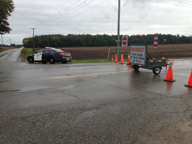 OPP are on scene of a fatal crash on Nauvoo Road near Warwick on Friday, Sept. 30, 2016.