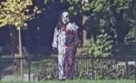 The suspect, who was dressed as a clown, will be charged with assault with a weapon.