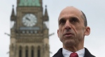 Conservative leadership candidate Steven Blaney said during an Oct. 24, 2016 press conference that he wants to block women from wearing the niqab at citizenship swearing-in ceremonies and while voting. (Adrian Wyld / THE CANADIAN PRESS)