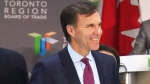 Federal Finance Minister Bill Morneau speaks at an event in Toronto on Friday, Oct. 28, 2016.