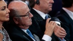 FILE - In this July 25, 2015 file photo FIFA President Sepp Blatter checks his watch during the preliminary draw for the 2018 soccer World Cup in Konstantin Palace in St. Petersburg, Russia. Sepp Blatter said Monday, Dec. 5, 2016 he has lost his Court of Arbitration for Sport appeal against a 6-year ban by FIFA. (AP Photo/Ivan Sekretarev, file)