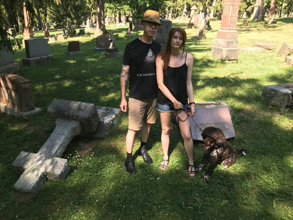 James Stewart and Julie Bell at Avondale Cemetery