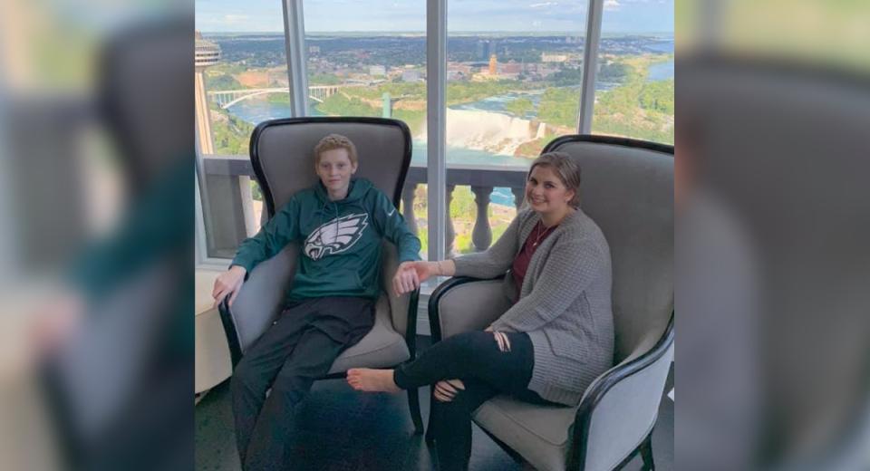 Emily Raes-Caspi and Jace Caspi in Niagara Falls