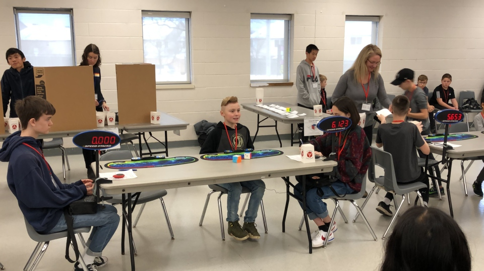 Wyatt Atchison competing in World Cube Association